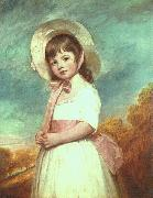 George Romney Miss Willoughby oil
